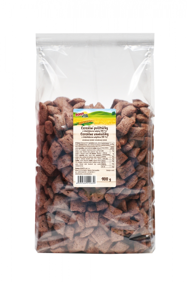 Cereal Pillows with Filling with Chocolate flavoring (900g)