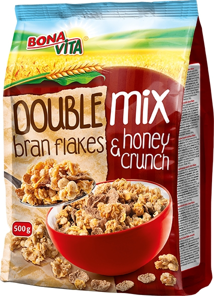 DOUBLE MIX (Bran Flakes & Honey Crunch) 500g