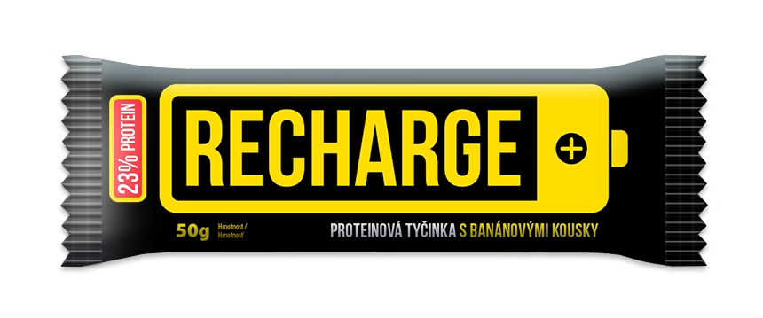 RECHARGE Bar with Pieces of Banana (50g)