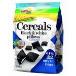 Black & White cereals pillows with coconut filling 250g