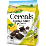 Black & White cereals pillows with filling with banana flavour 250g