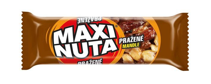 MAXI NUTA nut bar with roasted almonds, halfcoated in cocoa compound (35g)