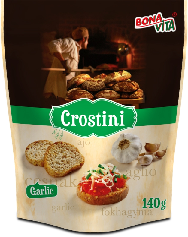 Crostini with garlic flavour