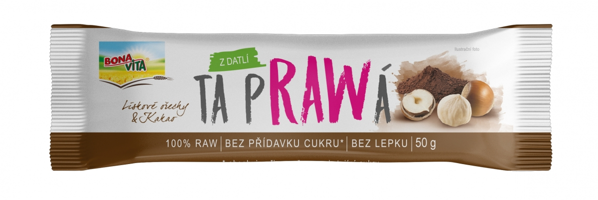 RAW Bar with hazelnuts and cocoa 50g
